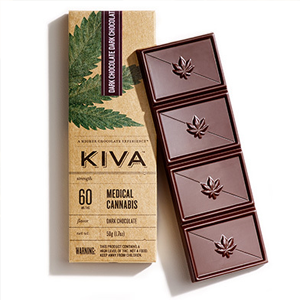 Kiva Dark Chocolate Bar ~ 100mg Image