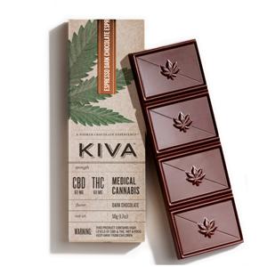 Kiva CBD Espresso Dark Chocolate Image