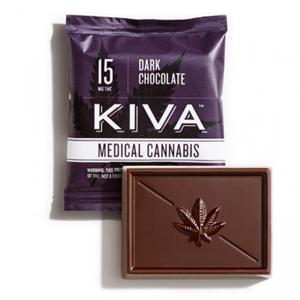 Kiva Dark Chocolate Mini ~ 15mg Image