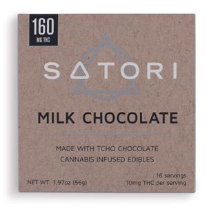 Satori Milk Chocolate Bar ~ 160mg Image