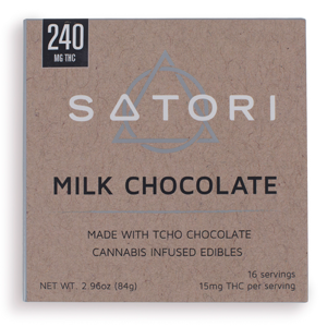 Satori Milk Chocolate Bar ~ 240mg Image