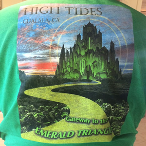 High Tides ~ Gateway to the Emerald Triangle T-shirt Image
