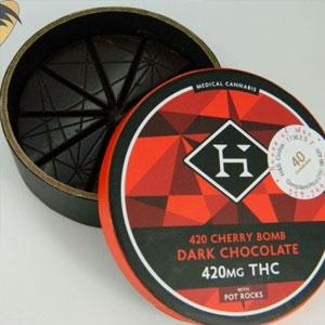 Hashman ~ Cherry Bomb Dark Chocolate, 420mg Image