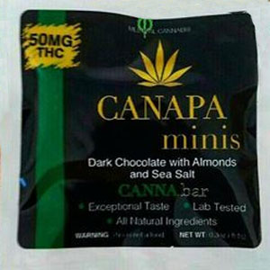 Canapa ~ Minis Dark Chocolate with Sea Salt & Almonds Image