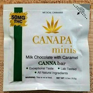 Canapa ~ Minis Milk Chocolate with Caramel Image