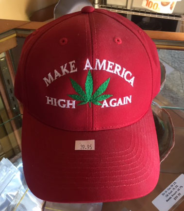Make America High Again Baseball Cap Image