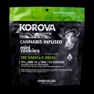 Korova 2fer Vanilla Pure CBD Mini Cookies Image