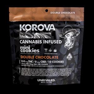 Korova Double Chocolate Mini Cookies Image