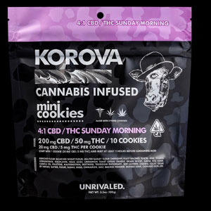 Korova Sunday Morning 4:1 CBD/THC Mini Cookie Image
