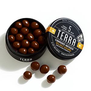 Kiva Terra Bites Sea Salted Caramel ~ 100mg / 5mg per bite Image