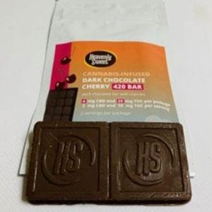 Heavenly Sweet ~ Dark Chocolate Cherry 420 Bar Image